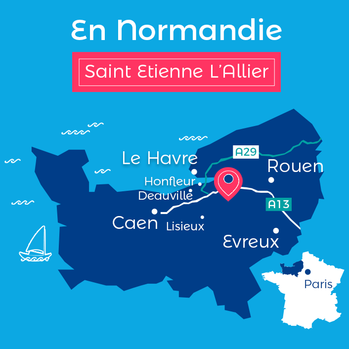 Carte Saint Etienne l Allier