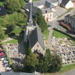 vue aérienne de l'église